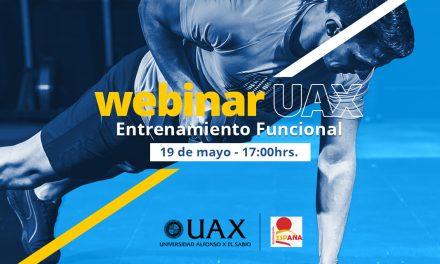UAX invita en exclusiva a nuestros Federados a un interesante Webinar sobre Entrenamiento Funcional