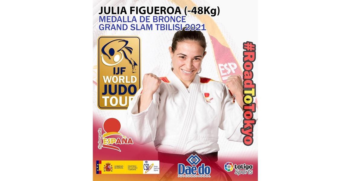 Julia Figueroa, medalla de BRONCE en el Grand Slam Tbilisi 2021