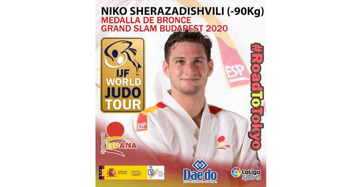 Niko Sherazadishvili, medalla de Bronce en el Grand Slam de Budapest