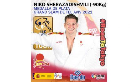 Niko Sherazadishvili, medalla de PLATA en el grand slam de Tel Aviv 2021