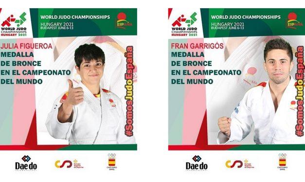 Julia Figueroa y Fran garrigós medallas de BRONCE en el Campeonato del Mundo de Judo 2021