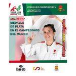 Ana Pérez Box medalla de PLATA en el campeonato del mundo de judo 2021